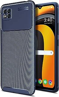 MOONCASE Case for Xiaomi Poco C3, Carbon Fiber Texture Design Back Cover Flexible Soft TPU Shockproof Slim Lightweight Cas...