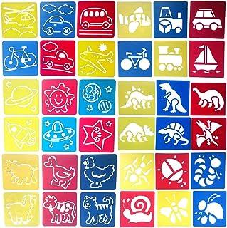 Zoohot 36 piezas plantillas de animales plantillas de transporte plantillas de insectos y dibujo de arte