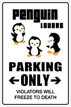 StickerPirate Penguin Lovers Parking Only 8
