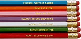 Parks and Rec TV Show Gift Pencil Set of 7 Funny Pencils with Quotes Student Gift Office Gift