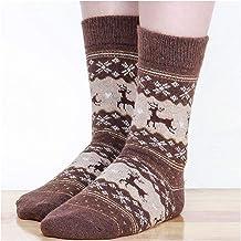 Gzjdtkj Kerstsokken Kerst Graphic Elk Sokken Winter Warmer Wol Kasjmier Katoen Zachte Paar Sokken voor Vrouwen Mode Heren ...