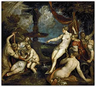VCFHU Tiziano Vecellio Obras De Arte Poster Impresiones Famosa Figura De Arte De Pared Lienzo Pintura Al óLeo Cuadros De A...