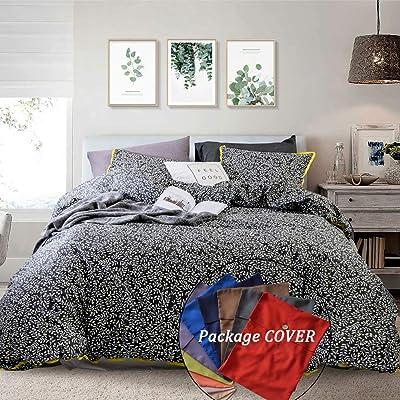 Opcloud Queen Duvet-Cover-Set,Cotton Leaves Pat...