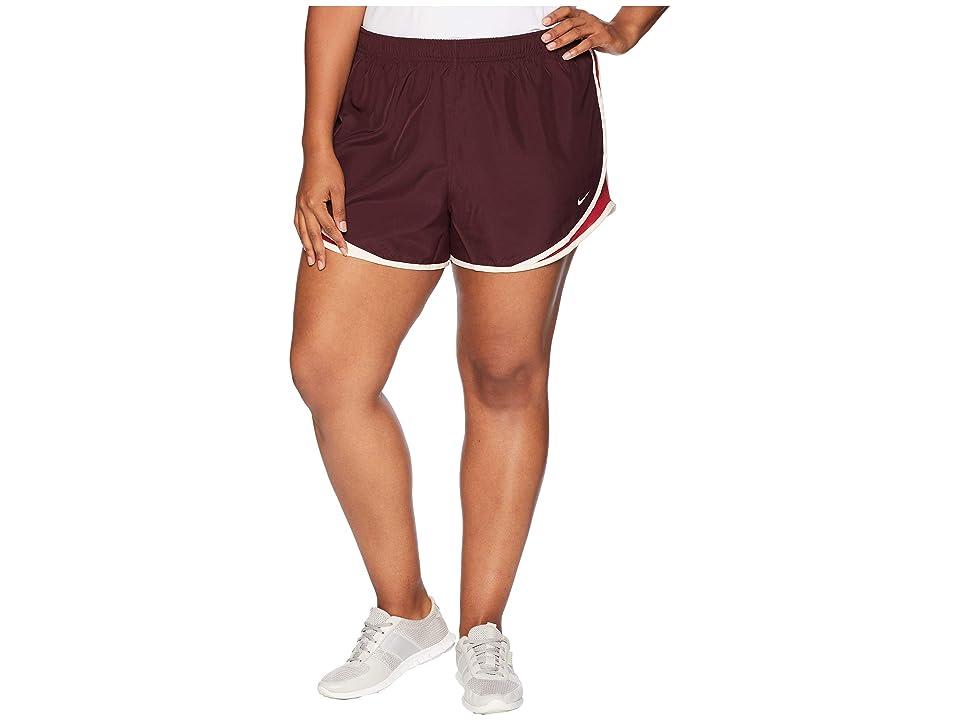 Nike Dry Tempo 3 Running Short (Size 1X-3X) (Burgundy Crush/Red Crush/Wolf Grey) Women