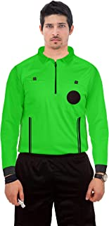 Referee Shirts Umpire Long Sleeve Jersey - Pro-Style Ref Uniform Great for Basketball Football Soccer Sports Competitions
