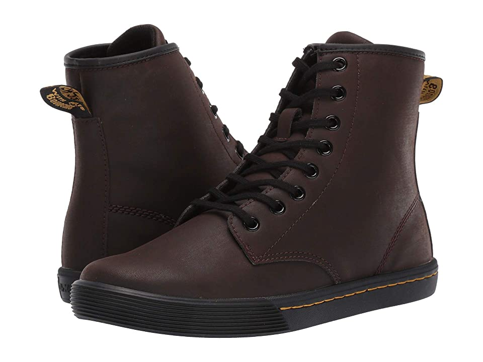 Dr. Martens Sheridan Octavo (Dark Brown Mohawk Non Woven Synthetic/Black Soft PU) Women