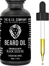Beard Oil for Growth Formulated for Thicker, Fuller Beard and Moustache – Executive Spice Scent – Improves Beards Texture, Dandruff & Dryness – 24h Non-Greasy Deep Conditioning – Made in Canada – 1oz