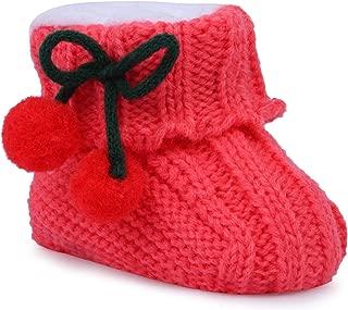 INSTABUYZ Newborn Knitted Woolen Baby Booties for Boys & Girls