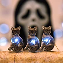 Halloween String Lights, Impress Life Black Cat Themed Lights 10 ft Flexible Copper Wire 40 LEDs with Dimmable Remote & Ti...