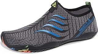 HEETA Water Sports Shoes for Women Men Quick Dry Aqua Socks Swim Barefoot Shoes for Beach Pool Surf Swim Yoga Blue_D 39#