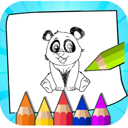 Baby panda glitter coloring pages