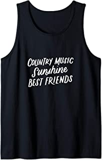 Country Music Sunshine Best Friends, Festival Outfits Tank Top