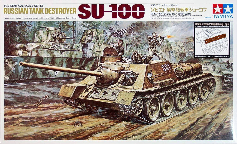 tienda de bajo costo Tamiya scale limited series 1 25 Soviet assault gun gun gun tank SU-100 Zhukov 25104  en linea