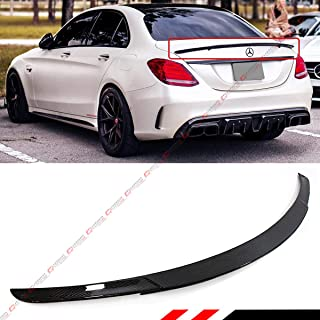 Cuztom Tuning Fits for 2015-2018 Mercedes Benz W205 C-Class Sedan & C63 C43 AMG B Style Carbon Fiber Trunk Spoiler Wing