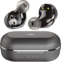 TOZO NC9 Hybrid Active Noise Cancelling Wireless Earbuds, ANC in Ear Headphones IPX6 Waterproof...