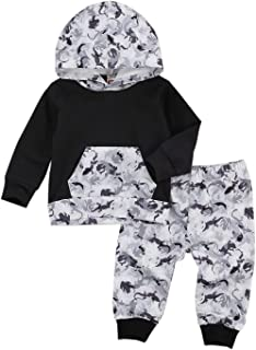 Baby Newborn Boys Girls Outfits Tie-Dye Fall Winter Clothes Infant Hoodie Long Sleeve Sweatshirts & Pants Set 2Pcs