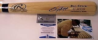 Bo Jackson Autographed Hand Signed Adirondack Pro Wood Baseball Bat - BAS Beckett