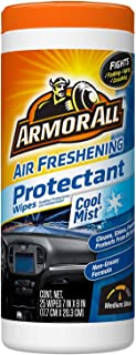 Armor All 78509 Air Freshening Protectant Wipes, Cool Mist Scent, 25 Pack