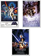 Star Wars Episode IV, V & VI - 3 Piece Movie Poster / Print Set (3 Regular Style Posters) (Size: 24