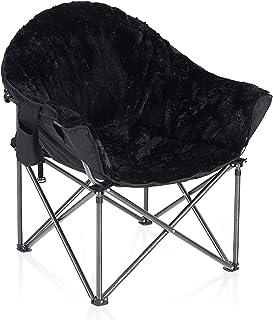 صندلی خوابگاهی مخلوط مخمل خواب دار ALPHA CAMP صندلی نعلبکی ماه بزرگ پشتیبانی از 350 LBS قابل حمل با کیف حمل