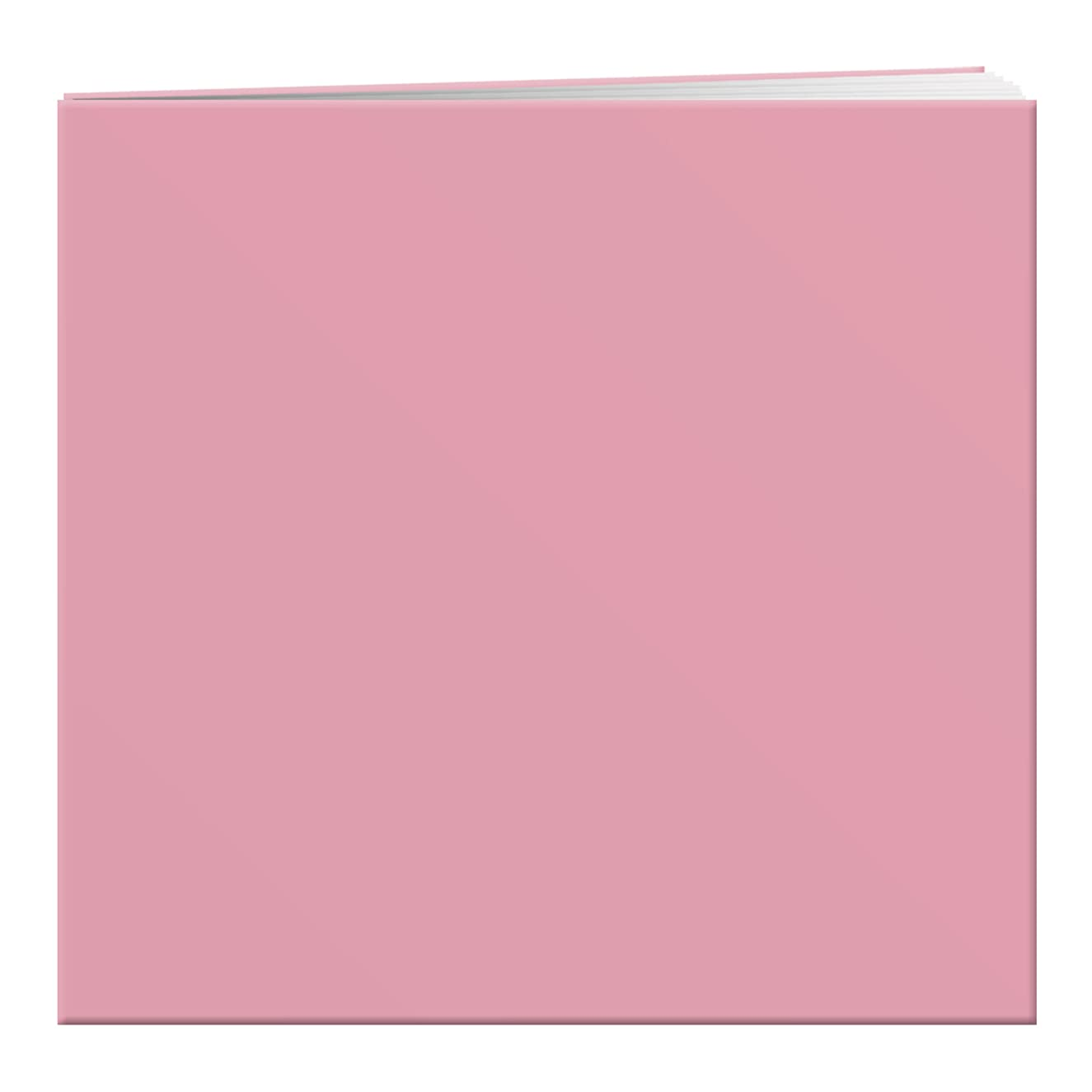 Pioneer 12 Inch by 12 Inch Pastel Leatherette Postbound Album, Light Pink
