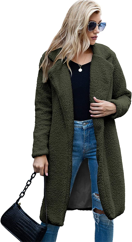 Snhpk Direct store Women Teddy Fleece Furry Front Coat Open Jacket unisex Cardigan