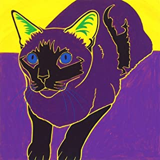 Siamese Kitty - Warhol Inspired Cat Pop Art MATTED Print by Angela Bond