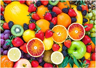 Cool Colorful Fruit Jigsaw Puzzle for Adults Kids - Every Piece is Unique, Pieces Fit Together Perfectly(300/500/1000 Piec...