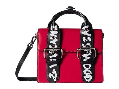 Vivienne Westwood Alex Medium Handbag (Red/Graffiti) Cross Body Handbags