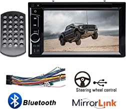 """Double Din Car Radio CD DVD Player with Touchscreen 6.2"""" Bluetooth Mirrorlink Steering Wheel Control Aux Input Subwoofer Control for Ford F150 F250 F350 F450 F550 2004-2016 Super Duty"""