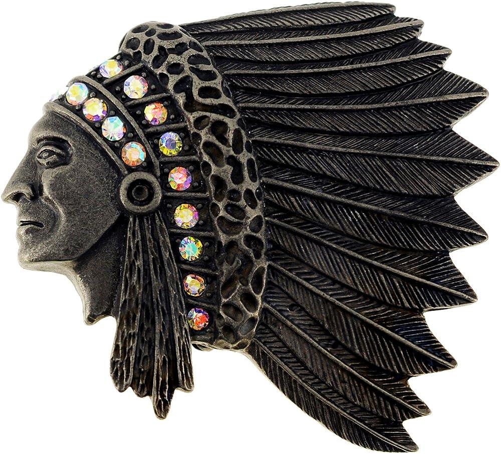 Fantasyard Vintage Style Native Indian Chief War Bonnet Pin Brooch