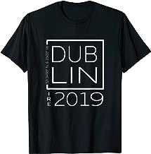 Dublin Ireland Souvenir Tshirt for Women with Coordinates