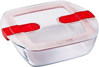 conservare /& riscaldare cuocere in forno 26x23cm Pyrex Cook /& Heat contenitore tondo per alimenti in vetro borosilicato con coperchio sfiatavapore per il microonde