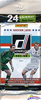 2016-17 Panini Donruss Soccer EXCLUSIVE Factory Sealed JUMBO FAT PACK with 24 Cards including SPECIAL SWIRLORAMA PARALLEL! Look for Cards & Autographs from Lionel Messi, Ronaldo, Neymar & Many More!