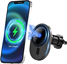 Compatible with iPhone 12/12 mini/12 Pro/12 Pro Max/Mag-Safe Car Charger,Magnetic Car Air Vent Mount Wireless Charger Phon...