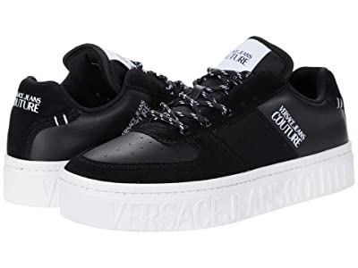 Versace Jeans Couture Skater Logo Sole Sneaker (Black) Men