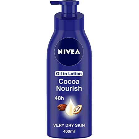 NIVEA Body Lotion for Very Dry Skin, Cocoa Nourish, with Coconut Oil & Cocoa Butter, For Men & Women, 400 ml