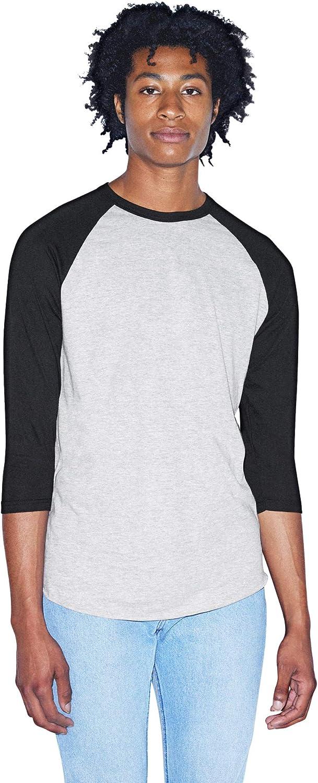 American Apparel Men's 50/50 Raglan 3/4 Sleeve T-Shirt, 2-Pack