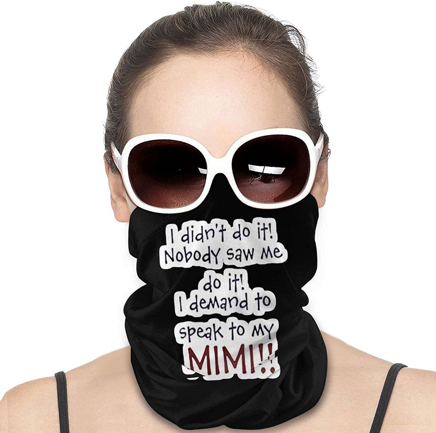 I Demand to Speak to My Mimi Round Neck Gaiter Bandnas Face Cover Uv Protection Prevent bask in Ice Scarf Headbands Perfect for Motorcycle Cycling Running Festival Raves Outdoors
