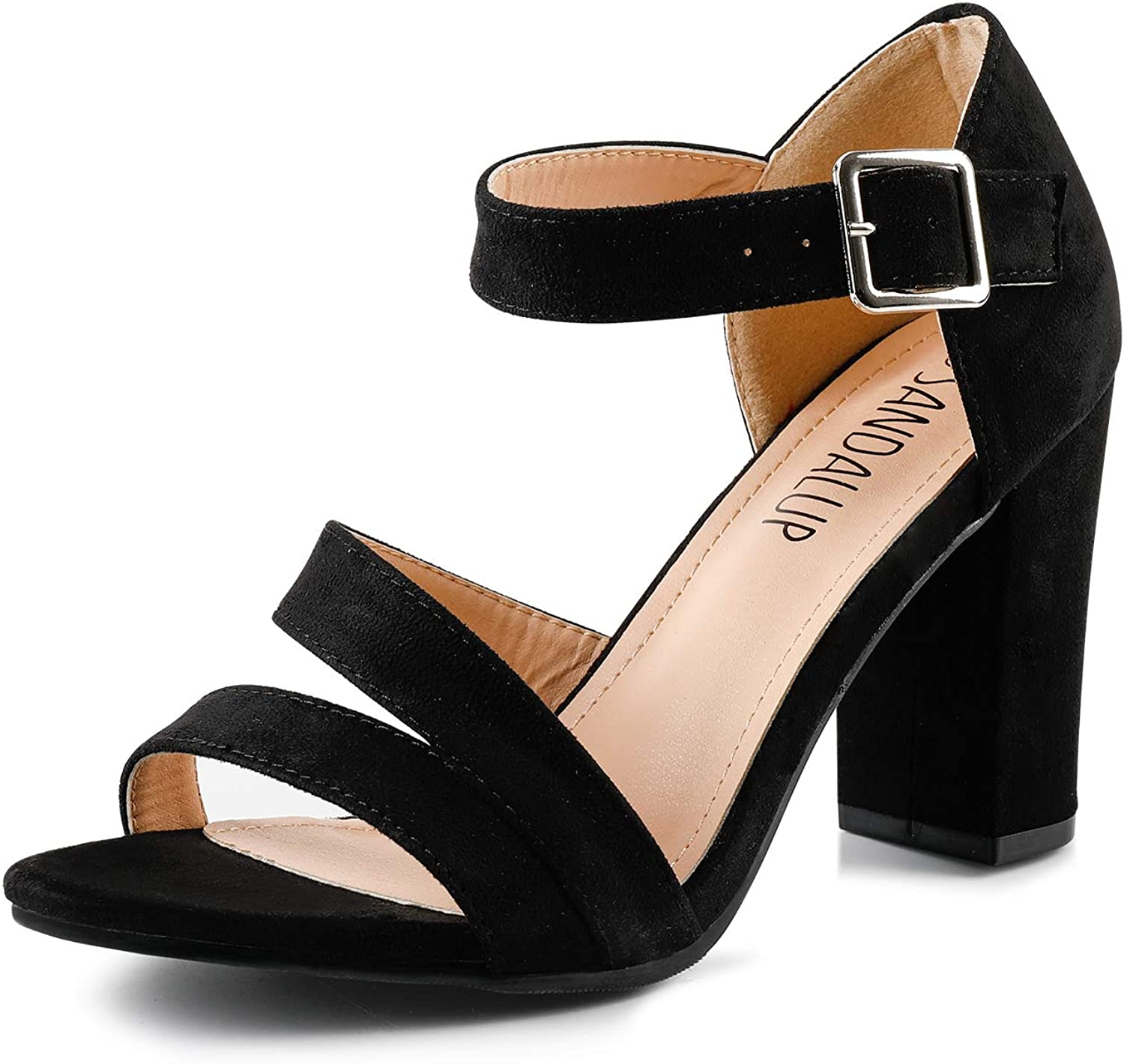 Sandalup Women's Chunky Block High Heel Toe Sandals An Open Cheap New York Mall mail order sales with