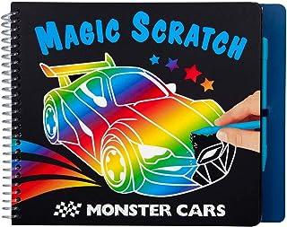 Depesche 10928 Livre de coloriage Magic Scratch Monster Cars, env. 22,5 x 17,8 x 1,8 cm, Multicolore.