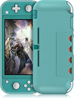 Soft Silicone Cover Case for Nintendo Switch Lite 2019, with 4 Game Card Holder and Anti-Fingerprints Design, Slim Rubber ...