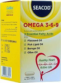Seacod Omega 3-6-9 Flax Seed Oil, 400 mg, 60 softgel capsules