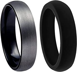 Best tungsten carbide 6mm comfort fit wedding band Reviews