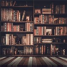 AOFOTO 5x5ft Old Books On Vintage Bookshelf Photography Background Library Retro Bookcase Backdrop Kid Boy Girl Adult Artistic Portrait Photoshoot Studio Props Video Drape Wallpaper