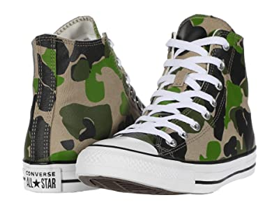 Converse Chuck Taylor All Star Camo Hi (Black/Candied Ginger/White) Athletic Shoes
