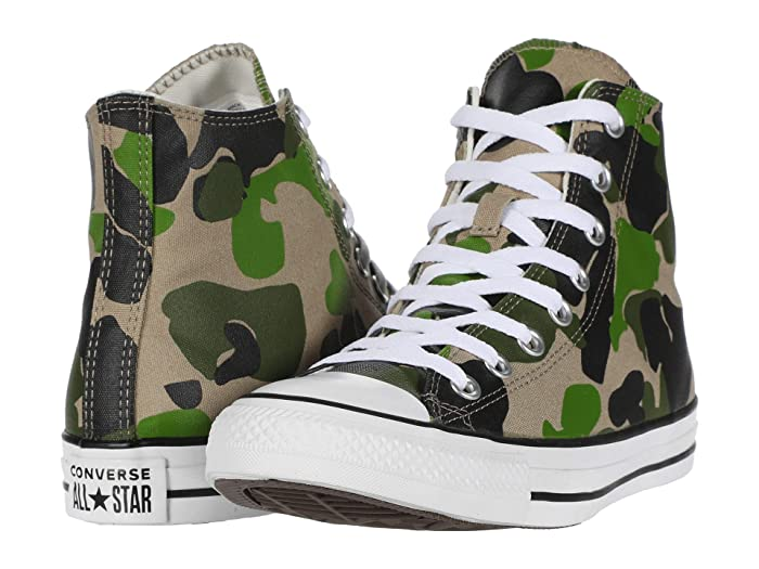 Converse  Archival Camo Chuck Taylor All Star - Hi (Black/Candied Ginger/White) Athletic Shoes