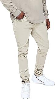 Men's Khaki Stacked Skinny Jeans