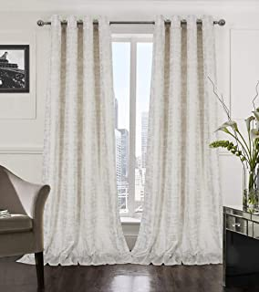 long gold curtains