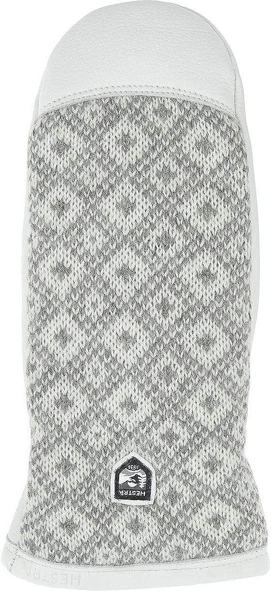 Hestra Ludvika Mitten - Women's Grey/Off White, 9
